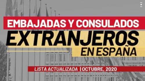 Embajadas y Consulados extranjeros en España: Lista actualizada Octubre 2020