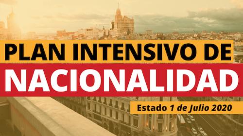Plan Intensivo de Nacionalidad- Estado 1 de Julio 2020
