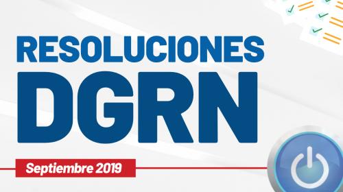 Resoluciones DGRN – Septiembre 2019