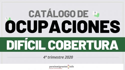 Catálogo de Ocupaciones de Difícil Cobertura – 4º Trimestre 2020