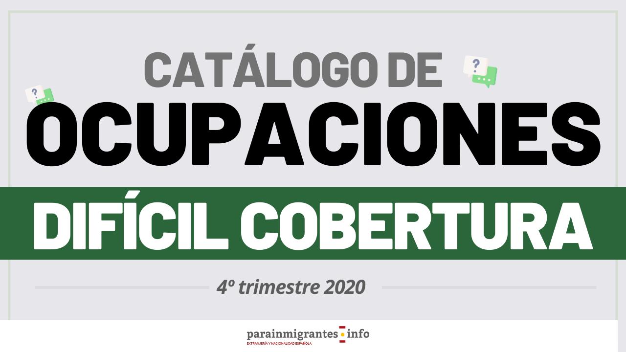 Catálogo de Ocupaciones de Difícil Cobertura 4º Trimestre 2020