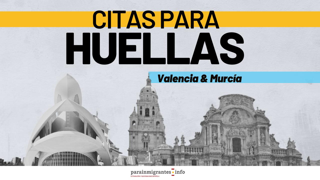 Citas para el Trámite de Huella en Valencia y Murcia miniatura