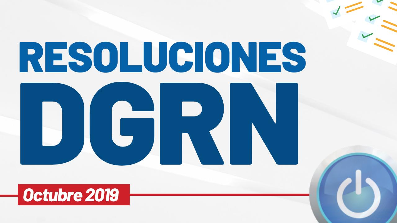 Resoluciones DGRN Octubre 2019 miniatura