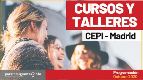 Cursos y Talleres CEPI- Madrid- Programación Octubre 2020