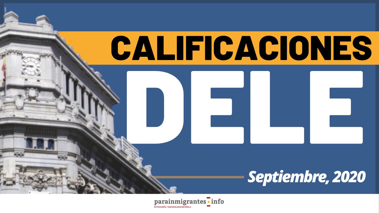 Calificaciones DELE Septiembre 2020