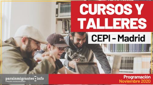 Cursos y Talleres CEPI- Madrid- Programación Noviembre 2020