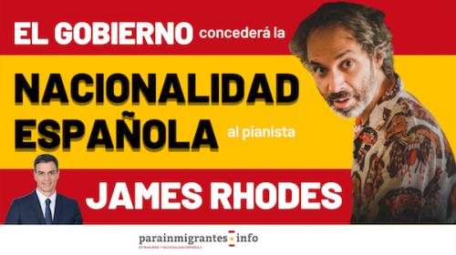 El Gobierno concederá la Nacionalidad Española al pianista James Rhodes