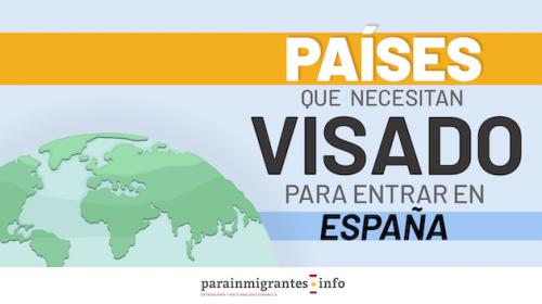 Países que necesitan visado para entrar a España
