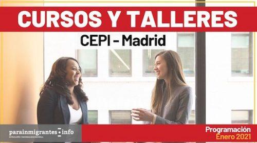 Cursos y Talleres CEPI- Madrid- Programación Enero 2021