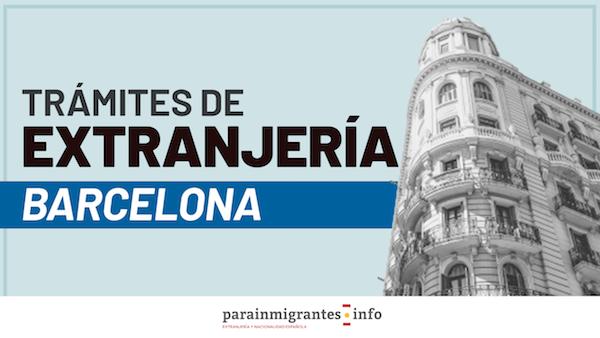 Trámites de Extranjería en Barcelona