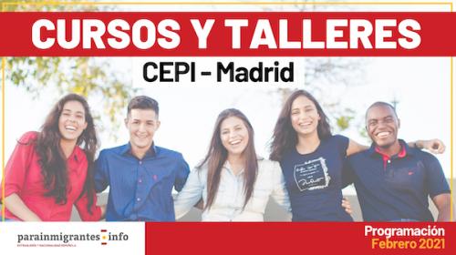 Cursos y Talleres CEPI- Madrid- Programación Febrero 2021