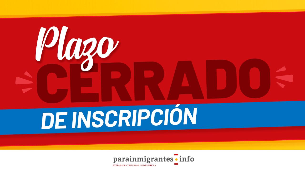 plazo cerrado inscripción seminario nacionalidad española 10 febrero 2021