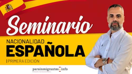 seminario nacionalidad española noticia