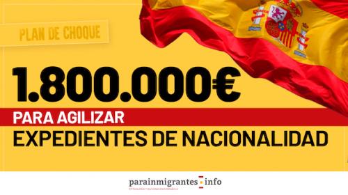 1.800.000 euros para agilizar los expedientes de Nacionalidad Española