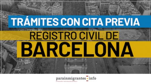 Trámites con Cita Previa en el Registro Civil de Barcelona