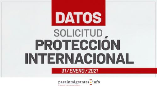 Datos sobre Solicitud de Protección Internacional- 31 de Enero 2021