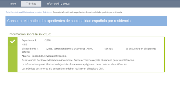 RESOLUCIONES DE CONCESIÓN DE NACIONALIDAD