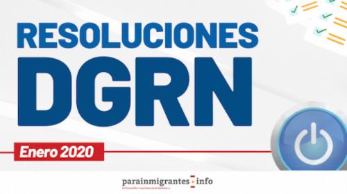 Resoluciones DGRN- Enero 2020