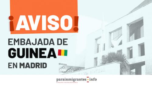 Aviso de la Embajada de Guinea en Madrid