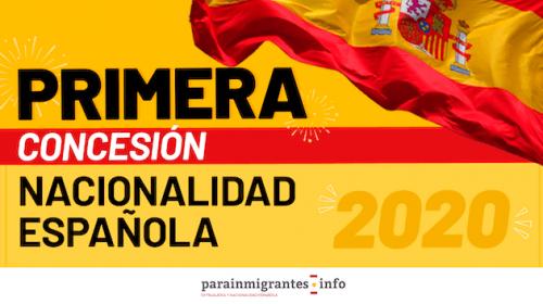 Primera Concesión de Nacionalidad Española del 2020