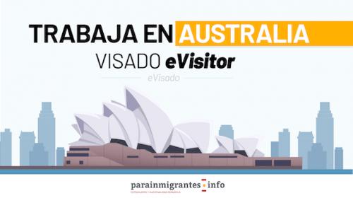 Trabaja en Australia con el visado eVisitor