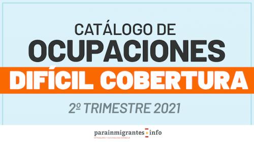 Catálogo de Ocupaciones de Difícil Cobertura- 2º Trimestre 2021