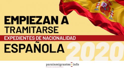 Empiezan a tramitarse Expedientes de Nacionalidad Española de 2020