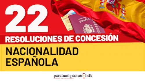 Resoluciones de Concesión de Nacionalidad Española- 10 de mayo de 2021