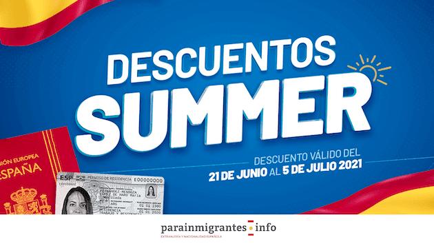Descuentos Summer: -25% en trámites de Extranjería y Nacionalidad Española en Parainmigrantes.info