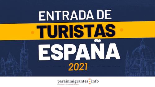 Entrada de Turistas a España Verano 2021