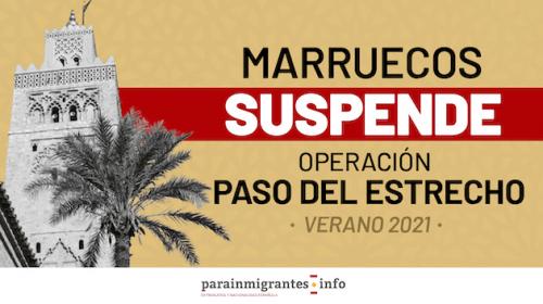 Marruecos suspende la Operación Paso del Estrecho para verano de 2021