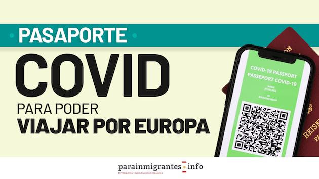 Pasaporte Covid para viajar por Europa