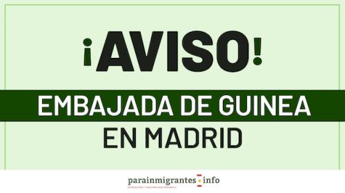 Nuevo Aviso de la Embajada de Guinea en Madrid