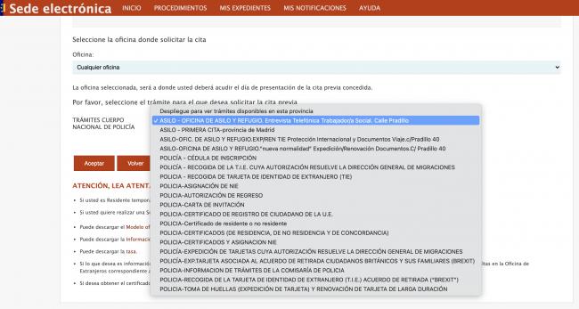 Oficina de Asilo y Refugio en Madrid Cita telefónica con Trabajador Social Sede Electrónica
