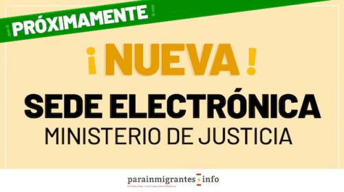 Nueva sede electrónica asociada al Ministerio de Justicia