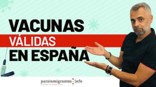Vacunas válidas para entrar a España