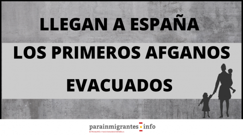 Llegan a España los primeros ciudadanos afganos evacuados