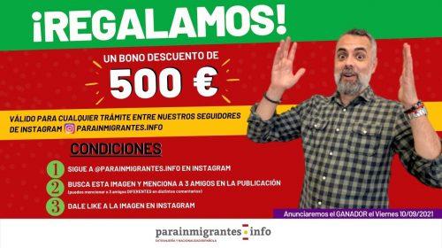 Te regalamos un Bono Descuento de 500 euros