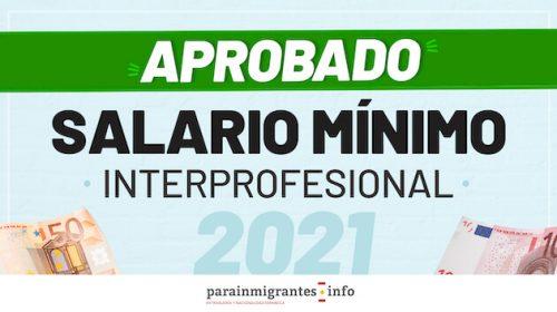 Subida del Salario Mínimo Interprofesional 2021