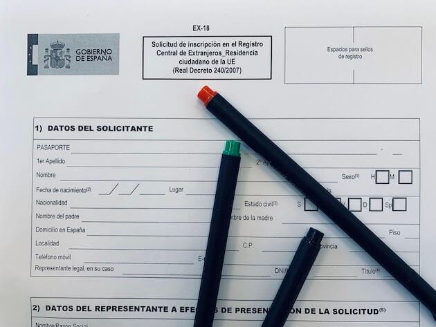 certificado registro UE